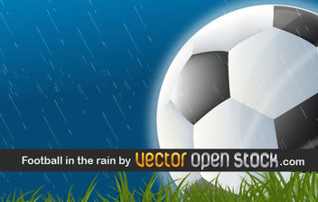Football in the Rain - Free vector #176315