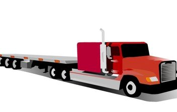 Container Truck clip art - Free vector #176465