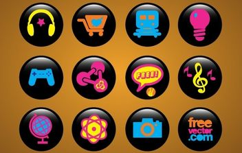 Icons Buttons - vector gratuit #176505