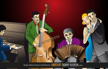 Tango-dance-music-orchestra - Free vector #176525