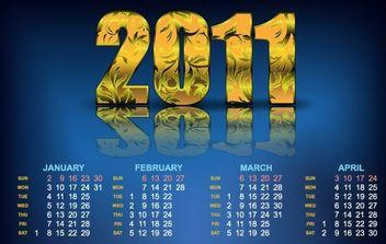Year 2011 Calendars 23 - Free vector #176535