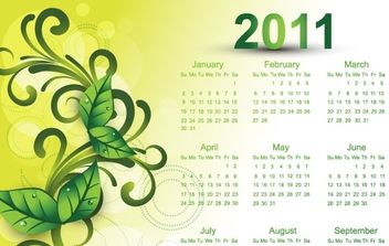 Colorful 2011 Vector Calendars - Free vector #176555