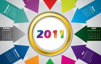 Calendar 2011 Vector - Kostenloses vector #176565