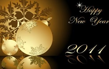 New Year 2011 Vector - Free vector #176625