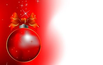 Red Christmas Bell Design - Free vector #176725