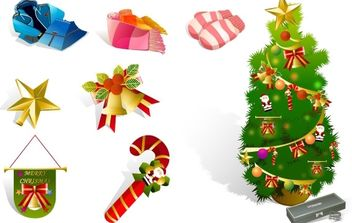 Christmas Icons - Free vector #176765