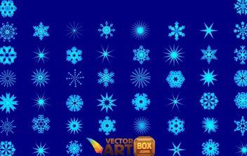 Snowflakes Vector - Kostenloses vector #176875