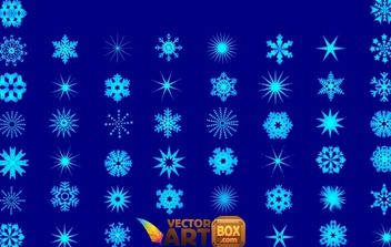 Snowflakes Vector - Free vector #176875