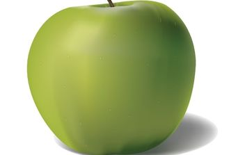 Green Apple - vector #177045 gratis