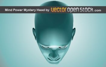 Mind Power Mistery Head - vector gratuit #177425
