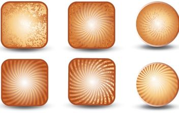 Collection of grunge buttons - Kostenloses vector #177435