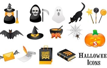 Halloween Vector Graphics - Free vector #177495