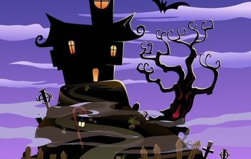 Free Spooky House Halloween - Kostenloses vector #177505