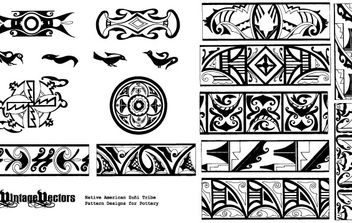 Native American Pottery Patterns - vector gratuit #177665