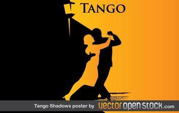 Tango Shadows Poster - Free vector #177735