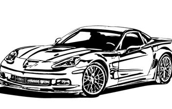 Corvette ZR1 Vector - vector gratuit #178015