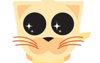 Cute Orange Kitty - Free vector #178025