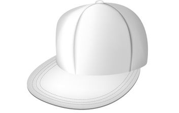 White full cap - Free vector #178135