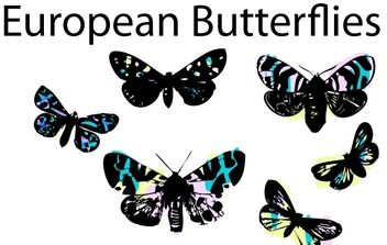 Stained Glass Butterflies by LVF - Free vector #178215