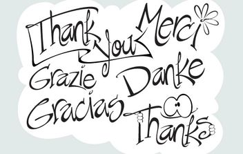 Say Thanks - vector gratuit #178235