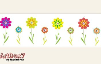 Colorful flowers by ArtBox7.com - vector gratuit #178445