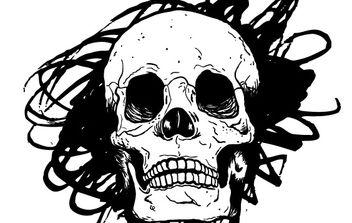 Hand Drawn Vector Skull - Kostenloses vector #178545