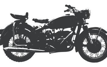 Vintage motorcycle - vector gratuit #178695