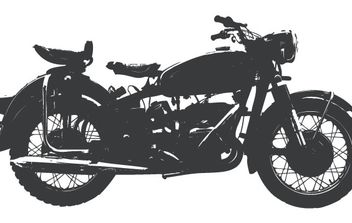 Vintage motorcycle - Free vector #178695