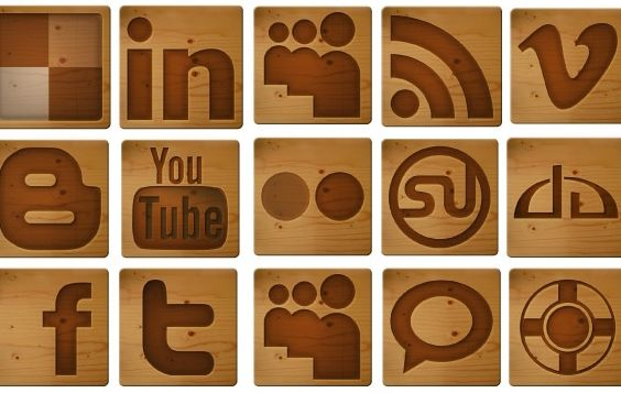 Free Social Media Woodcut Icons - Kostenloses vector #178715