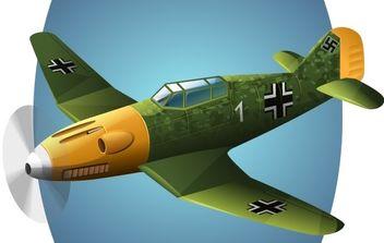 BF-109 Plane vector - Free vector #178805