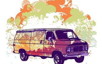 Free psychadelic van vector illustration - бесплатный vector #178825