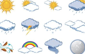 FREE VECTOR WEATHER ICONS - vector gratuit #178865