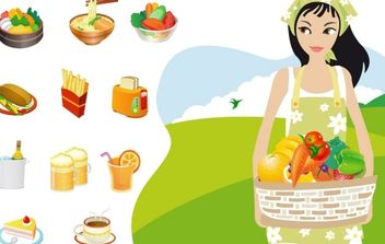 Food & Cooking Vector Graphics - бесплатный vector #178875