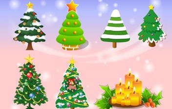Vector Christmas Tree - vector gratuit #178995