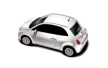 New Fiat 500 - vector gratuit #179095