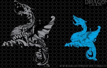 Dragon Illustration - vector gratuit #179225