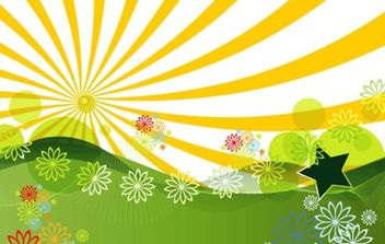 Free Vector Landscape - Free vector #179295