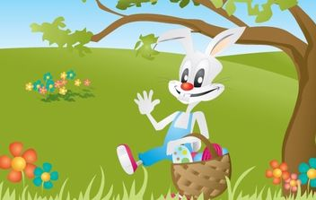 Easter BUNNY - Free vector #179305