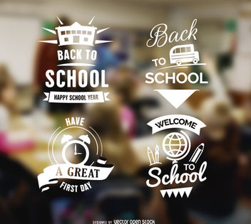 Back to school Badges - Kostenloses vector #179705