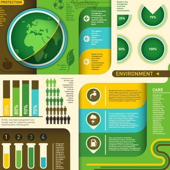 Ecology Green Environmental Infogaphic - Kostenloses vector #179725