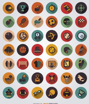 42 Sport elements icon set - Kostenloses vector #179785