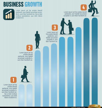 Business growth infographics - Free vector #179855