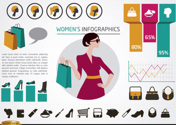 Women's fashion infographics elements - Free vector #179875