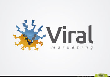 Abstract Round Virus Marketing Logo - бесплатный vector #179905