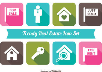 Minimal Real Estate Icon Set - vector gratuit #179935