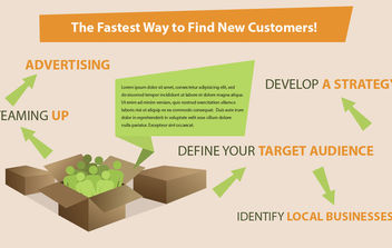Infographic Way to Find New Customers - vector gratuit #180195
