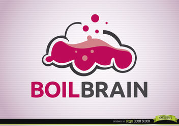 Boil brain creativity logo - бесплатный vector #180335