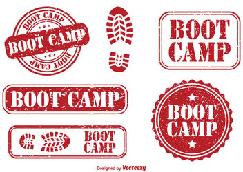 Vintage Boot Camp Stump Set - бесплатный vector #180355