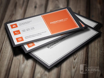 Classic Metro Style Business Card - vector #180385 gratis