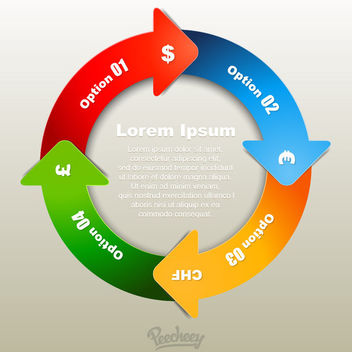 Colorful Recycling Arrow Infographic - Free vector #180405